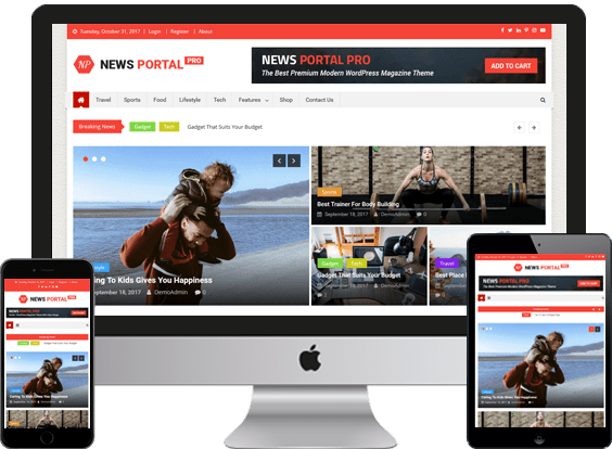 flixweb, News Website Design